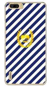 【送料無料】 ストライプ ブルー×ホワイト (クリア) / for honor6 Plus PE-TL10/MVNOスマホ(SIMフリー端末) 【SECOND SKIN】honor6 ケース honor6 カバー petl10 ケース petl10 カバー huawei ケース huawei カバ
