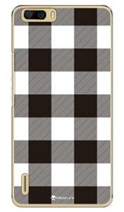 【送料無料】 Buffalo check ホワイト (クリア) design by Moisture / for honor6 Plus PE-TL10/MVNOスマホ(SIMフリー端末) 【SECOND SKIN】honor6 ケース honor6 カバー petl10 ケース petl10 カバー huawei ケース huawei