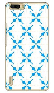【送料無料】 MHAK 「SUN」 ホワイト×ブルー (クリア) / for honor6 Plus PE-TL10/MVNOスマホ(SIMフリー端末) 【SECOND SKIN】honor6 ケース honor6 カバー petl10 ケース petl10 カバー huawei ケース huawei カバー