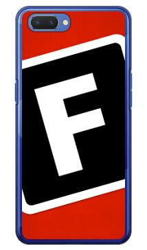 【送料無料】 Cf LTD キャンプ イニシャル レッド×ブラック F (クリア) / for OPPO R15 Neo/MVNOスマホ(SIMフリー端末) 【Coverfull】oppo スマホ oppo スマートフォン oppo スマホケース oppo スマホカバー オッポ スマホケース オッポ スマホカバー