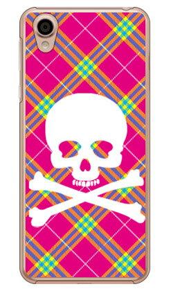 【送料無料】 スカルパンク ピンク (クリア) / for Android One X4・AQUOS sense plus SH-M07/Y!mobile・MVNOスマホ(SIMフリー端末) 【SECOND SKIN】android one x4 ケース android one x4 カバー アンドロイドワンx4ケース アンドロイドワンx4カバー