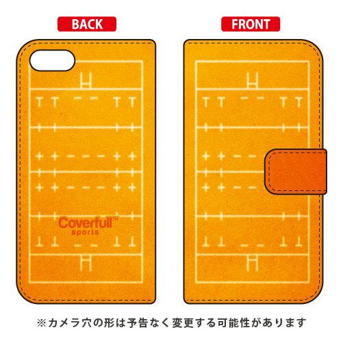 【送料無料】 手帳型スマートフォンケース ラグビーコート オレンジ / for ZenFone 4 Max ZC520KL/MVNOスマホ(SIMフリー端末) 【Coverfull】zenfone 4 max ケース zenfone 4 max カバー ZC520KL ケース ZC520KL カバー ゼンフォン4マックス ケース