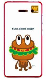 【送料無料】 cheese burger (クリア) design by PansonWorks / for iida INFOBAR A02/au 【SECOND SKIN】【平面】【受注生産】【スマホケース】【ハードケース】au A02 カバー infobar a02 カバー iida INFOBAR A02 カバー ケース case カバー cover