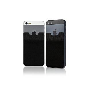 ステッカーブルポケット Sinji Pouch Basic2(ブラック)スマホアクセ icカード カード 収納ポケット 背面ポケット ステッカーポケット iPhone アイフォン アイフォーンスマートフォン スマホ 人気 便利 簡単 激安