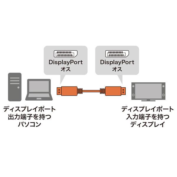 SANWA SUPPLY(サンワサプライ) DIsplayPort光ファイバケーブル10m KC-DPFB100DisplayPort パソコン ディスプレイ 接続 光ファイバー ケーブル 光ファイバ 画像 音声 伝送可能 複数ディスプレイ ハブ経由 簡単 マルチディスプレイ 著作権保護