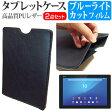 【メール便は送料無料】SONY Xperia Z4 Tablet Wi-Fiモデル SGP712JP/B[10.1インチ]ブルーライトカット 指紋防止 液晶保護フィルム と タブレットケース セット ケース カバー 保護フィルム