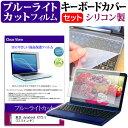 東芝 dynabook VZ72/J [12.5インチ] 機種で使える ブルーライトカット 指紋防止 液晶保護フィルム と キーボードカバー セット メール便送料無料