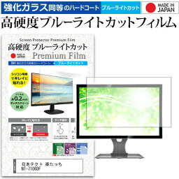 日本テクト 楽たっち NT-7106DF [17インチ] 機種で使える 強化 ガラスフィルム と 同等の 高硬度9H ブルーライトカット クリア光沢 液晶保護フィルム メール便送料無料 父の日 ギフト
