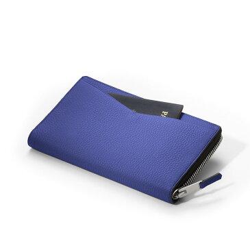 【正規販売代理店】 GILBANO TRAVEL ORGANIZER KINGS Electric Blue 旅行 パスポートケース トラベルオーガナイザー 牛革 レザー カード収納 本革 ケース スマホ収納《 ジルバーノ 》
