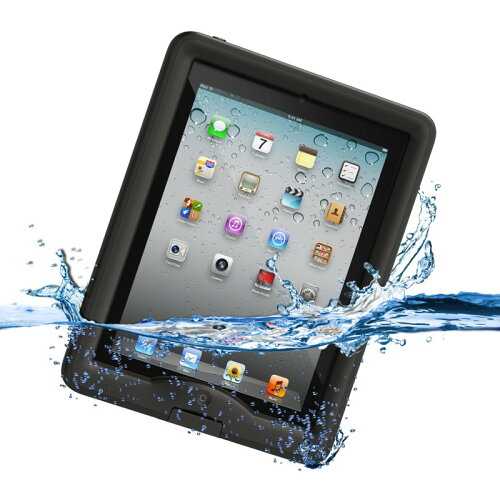 nuud Case iPad Gen 2/3/4 Black ブラック 防水...