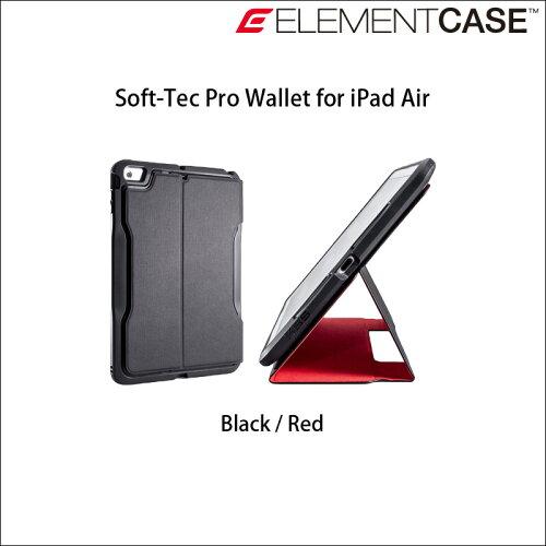 《 ELEMENTCASE 》SOFT-TEC PRO for iPad Air : Black 《 エレ...