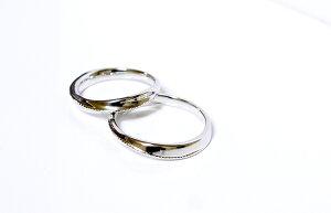 【CASHO】pt950(ハードプラチナ)/ペアリング(2本)製作/ツイストラインシリーズ(スラントラインクラッシック)メンズ&レディースペアリング、マリッジリング(結婚指輪)