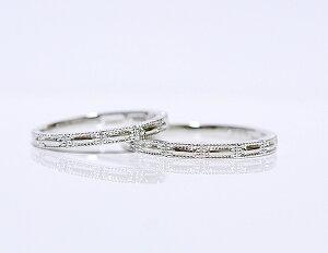 【CASHO】pt950(ハードプラチナ)/ペアリング(2本)製作/クラッシックスクウェアメンズ&レディースペアリング、マリッジリング(結婚指輪)