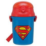 スーパーマン プッシュ オープン シリコンストローボトル スケーター ギフトラッピング
