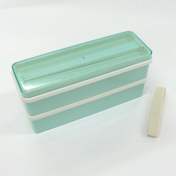 栄養バランス弁当箱 900ml  パウダーパステルグリーン //白米ごはん食品食材保存容器ケース小分けおかず作り置き弁当食洗機電