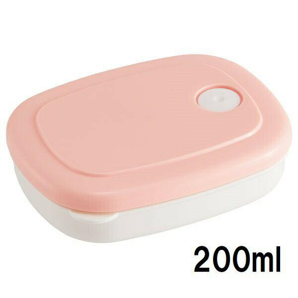 ご飯冷凍作りおき容器 200ml  パウダーパステルピンク //白米ごはん食品食材保存容器ケース小分けおかず作り置き弁当食洗機電
