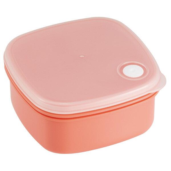 スクエアフードコンテナ(M) 400ml  ノルディコットオレンジ //食品食材保存容器ケース小分けおかず作り置き冷凍食洗機電子