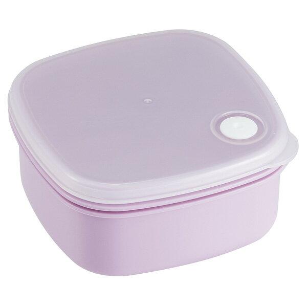 スクエアフードコンテナ(M) 400ml  ノルディコットパープル //食品食材保存容器ケース小分けおかず作り置き冷凍食洗機電子