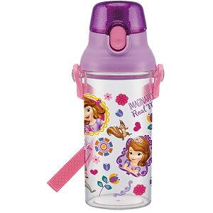 食洗機対応プラクリアボトル 子供用プラスチック水筒 透明仕様  ちいさなプリンセスソフィア ディズニー おしゃれ かわいい 可愛い Disney キャラクター