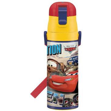 在庫限り☆超軽量 水筒 カーズ カーズ 車 CARS マックィーン ディズニー Disney 男の子 男子 子供 水筒 ボトル 直飲み ワンタッチ 保冷 コンパクト 小さめ キャラクター スケーター ステンレス 肩紐