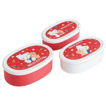 シール容器3Pセット ハローキティ80S キティちゃん ハローキティ サンリオ キティ シール容器 プラスチック トリオ セット 3サイズ キャラクター スケーター