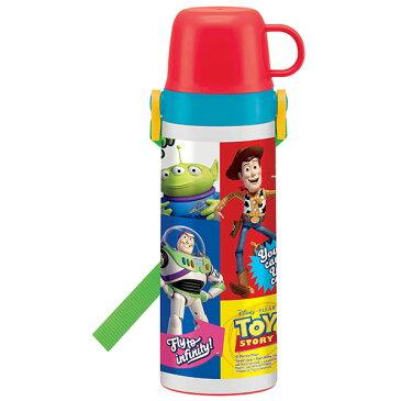 軽量 2way ステンレスボトル トイストーリー トイストーリー トイ・ストーリー TOY STORY ウッディ バズ ディズニー Disney 男の子 男子 子供 水筒 コップ付き ボトル コップつき 直飲み 肩ベルト キャラクター スケーター 肩