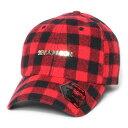 7UNION 7ユニオン Buffalo Bent Brim Cap ベントブリムキャップ ボールキャップ 帽子 ICY-141 バッファローチェック ブラック×レッド