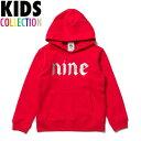 NINE RULAZ LINE ナインルーラーズ キッズ 子供服 Logo Kids Hoodie パーカー スウェット プルオーバー NRKAW16-007 レッド