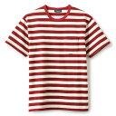 INTERBREED インターブリード Basic Border SS Tee 半袖 Tシャツ ボーダー バーガンディー×ホワイト