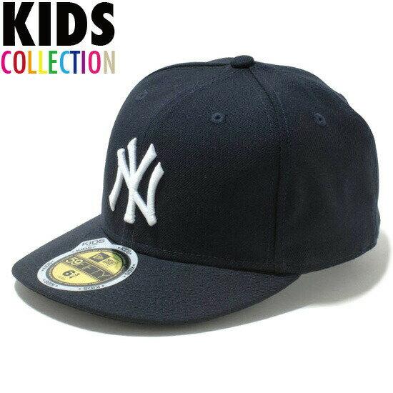 ニューエラ キッズ キャップ 帽子 NEW ERA Kid's 59FIFTY MLB On-Field ニューヨーク・ヤンキース ゲーム CAP 帽子 子供用 キッズサイズ 男の子 女の子 誕生日 プレゼント チームカラー 11449304画像
