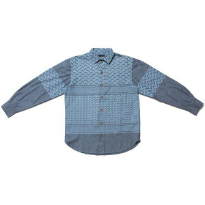 送料無料 NINE RULAZ LINE ナインルーラーズ Afghan Pattern Denim Shirt デニムシャツ NRAW17-023 インディゴ