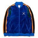 送料無料 NINE RULAZ LINE ナインルーラーズ Velour Zip Up ベロア ジャージ ジャケット NRAW17-025 ブルー