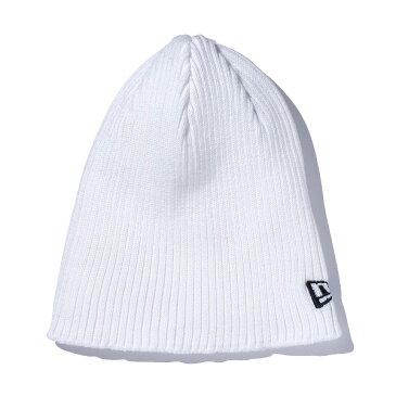 ニューエラ キャップ ビーニー 帽子 クールマックス NEW ERA Rib Beanie 11226004 ホワイト (made with COOLMAX fabric)