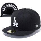 ニューエラ キャップ NEW ERA 59FIFTY UNDERVISOR ロサンゼルス・ドジャース キャップ ユニセックス 帽子 11434023 ブラック×ホワイト LOS ANGELES 2