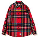 アップルバム チェックシャツ APPLEBUM Jacquard Check Shirt 1820203 RED レッド