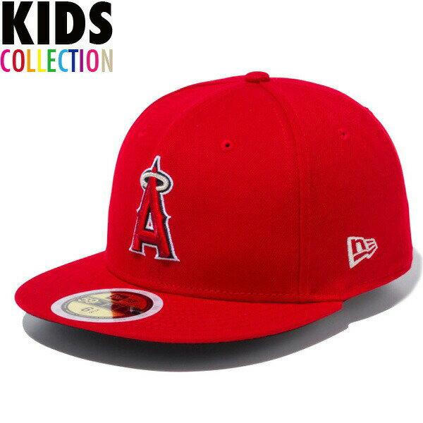 ニューエラ キッズ キャップ 帽子 NEW ERA Kid's 59FIFTY MLB オンフィールド ロサンゼルス・エンゼルス ゲーム 子供用 キッズサイズ 男の子 女の子 誕生日 プレゼント レッド/チームカラー ワンサイズ 11901040画像