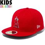 ニューエラ キッズ キャップ 帽子 NEW ERA Kid's 59FIFTY MLB オンフィールド ロサンゼルス・エンゼルス ゲーム 子供用 キッズサイズ 男の子 女の子 誕生日 プレゼント レッド/チームカラー ワンサイズ 11901040