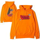 ナインルーラーズ パーカー メンズ NINE RULAZ LINE Bloody Wicked Hoodie プルオーバー オレンジ M-XXL NRSS19-003