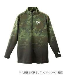 ダイワ DE-33009 ブレスマジック ハーフジップシャツ グリーンカモ XL