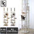 キャットタワーキャットタワー突っ張りつっぱりネコ猫遊び道具室内ペット用品ペット突っ張りキャットタワー