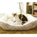 猫 ベッド ペットベッド あったか 角型ペットベッド M ピンク ブラウン 猫ベッド ペット用ベッド 秋冬 ...