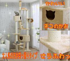 4,200円以上送料無料![キャットタワー]新色追加!天井突っ張りキャットタワー QQ80037 ベージ...