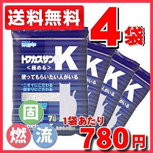 おからの猫砂トフカスサンドKが激安送料無料価格!【送料無料】トフカスサンドK 7L×4袋セット...