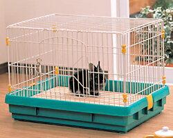 ラビットケージ UK-650 うさぎ 小動物 ケージ ゲージ ハウス おうち 天面フルオープン 木製スノコ アイリスオーヤマ キャットランド