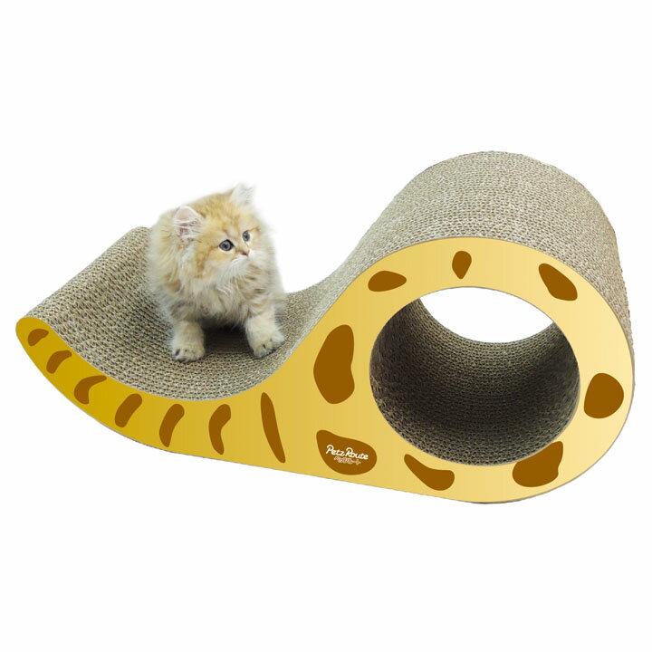 猫 爪とぎ にゃんこのしっぽ爪とぎ スリム ゴールド ダンボール 段ボール 紙 つめとぎ おもちゃ 爪磨き 国産 ペッツルート [AA] キャットランド【TC】