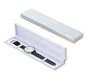 ウォッチケース ギフト用 腕時計ケース(1個) ギフトボックス メンズ腕時計 レディース腕時計 腕時計用保存箱 収納ケース 保存ボックス プレゼント ラッピング ホワイト/ブラック 白/黒 (ケースのみ・腕時計は含まれません)