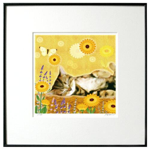 猫夢アート版画 「マリーゴールド」キジトラ