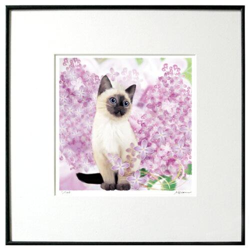 猫夢アート版画 「ライラック」シャム猫