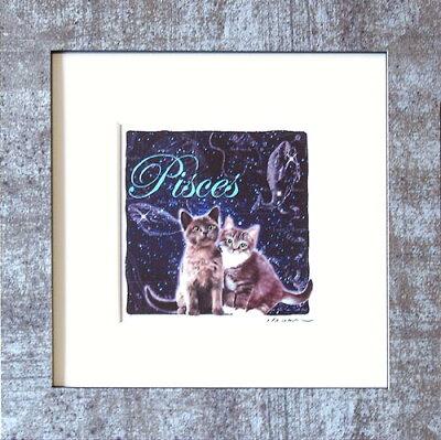 可愛い猫の12星座♪ (=∵=)猫好きのお友達へのプレゼントにも!!猫夢アート版画・猫の星座シリ...