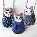猫アクセサリーi猫のトンボ玉